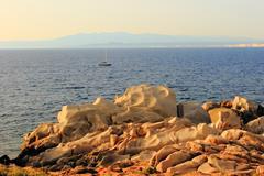 Cliff of Capo Testa - Santa Teresa/Sardegna/Italia - stock photo