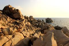 Cliff of Capo Testa - Santa Teresa/Sardegna/Italia Stock Photos