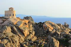 House on the cliff - Santa Teresa/Sardegna/Italia - stock photo