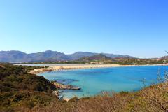 View of Notteri - Villasimius/Sardegna/Italia Stock Photos