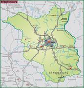 Stock Illustration of map of brandenburg