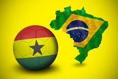 Stock Illustration of Football in ghana colours