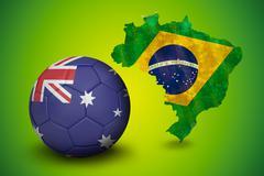Stock Illustration of Football in australia colours