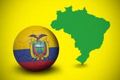 Football in ecuador colours - stock illustration