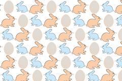 easter eggs and bunnies - stock illustration - stock illustration
