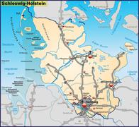 Stock Illustration of map of schleswig-holstein