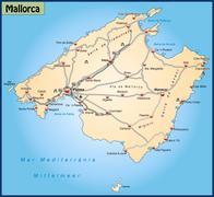 Map of mallorca Stock Illustration