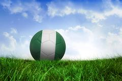 Football in nigeria colours - stock illustration