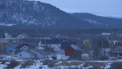 Norway-Narvik-Mountain-Town-Location-Landscape-4 Stock Footage