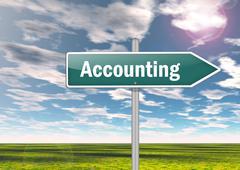signpost accounting - stock illustration