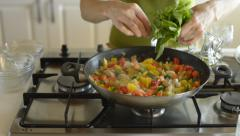 Stock Video Footage of cooking risotto recipe series 7 from 9