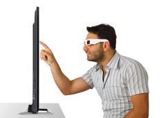 Poika 3D-lasit Kuvituskuvat