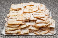 Chiacchiere or frappe italian cake - stock photo
