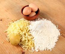 Gnocchi ingredients - stock photo