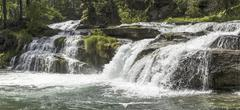 Waterfall, Alpe Devero - Piedmont - stock photo