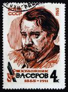 Postage stamp Russia 1965 Valentin Alexandrovich Serov, Painter - stock photo