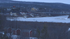 Norway-Narvik-Mountain-Town-Location-Landscape-3 Stock Footage
