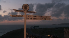 Lands end sunset Stock Footage
