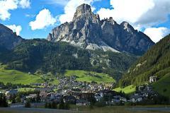 view of Corvara, Alta Badia - Dolomites - stock photo
