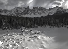 Mountain Latemar, Dolomiti - stock photo