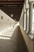 architectural ancient arcade - stock photo