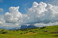 Dolomites, Seiser Alm - Italy Stock Photos