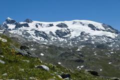 Plateau Rosa glacier - Aosta Valley Stock Photos