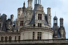 Castle of chambord in cher valley, france Stock Photos