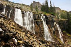 Seven veils falls, lake o'hara, yoho national park, canada Stock Photos