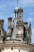 the royal castle of chambord in cher valley, france - stock photo