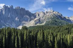 Mountain Latemar, Dolomiti Stock Photos