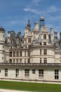 The royal castle of chambord in cher valley, france Stock Photos