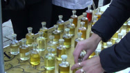 Stock Video Footage of bottles with different scents exotic essential oils for body