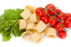 Stock Photo of Tricolor pasta