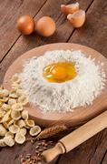 Italian pasta oracchiette homemade Stock Photos