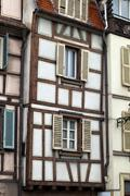 half timbered houses of colmar, alsace, france - stock photo