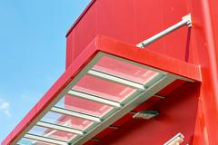 aluminum facade and alubond panels - stock photo