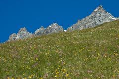 profile mountainous, Aosta Valley - stock photo