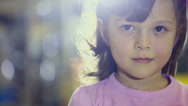 Stock Video Footage of Portraits of children at stor,female child doing facial expressions smile