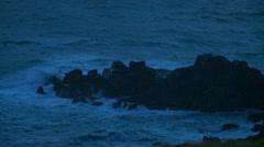 Lands end cliffs tide Stock Footage