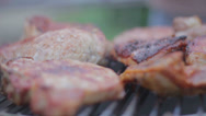 Stock Video Footage of steak on grill