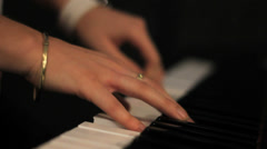 Caucasian Lady's Hands Playing the Piano 1080 - stock footage
