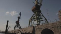 Dockside crane Stock Footage