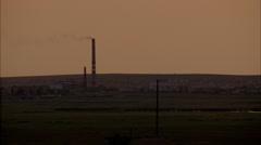 Grasslands Plain Prairie Sunset Stock Footage