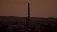 Grasslands Sunset Factory Stock Footage