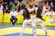 Stock Photo of kobudo competition between boys