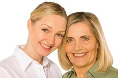 Mother and doughter adult young Stock Photos