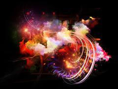 Dance of Design Nebulae Stock Illustration