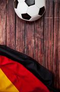Stock Photo of soccer: german flag and ball background