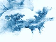 Stock Illustration of Exploding Fractal Burst